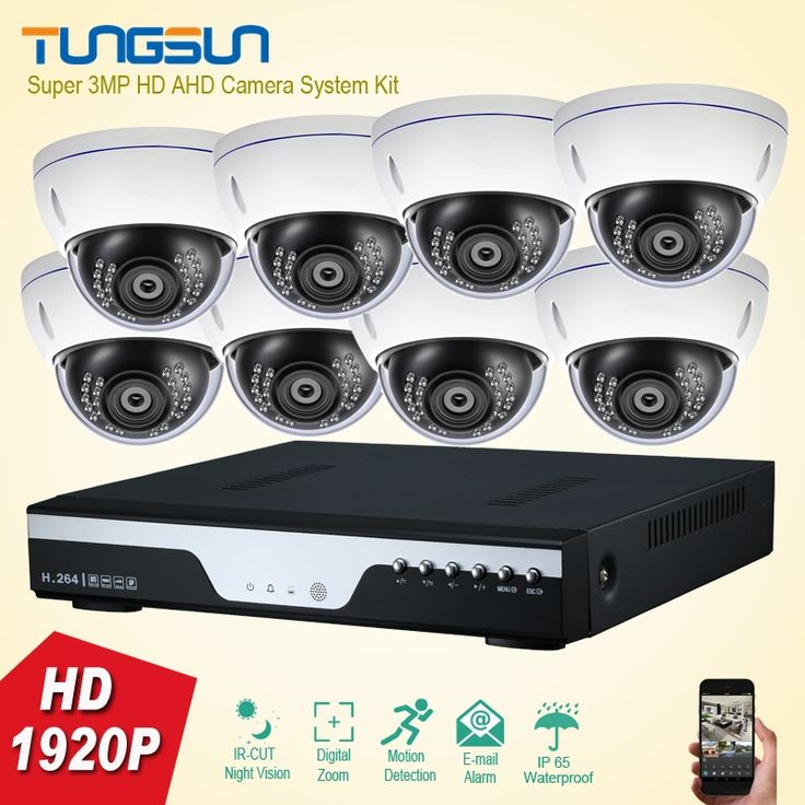 452.44$  Watch now  - New Super 3MP Full HD 8 Channel 1920P Video Surveillance System indoor Metal Dome Security Camera System DVR CCTV System Kit