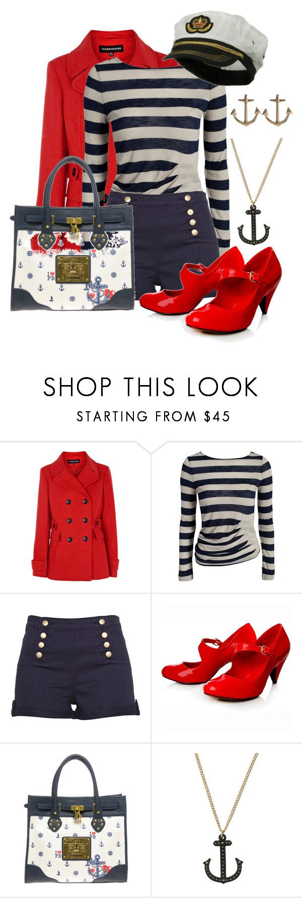 """Set Sail.."" by vogue-kisses ❤ liked on Polyvore featuring Warehouse, MANGO, Dotti, Carvela Kurt Geiger, Paul's Boutique, Philip Crangi and Minor Obsessions"