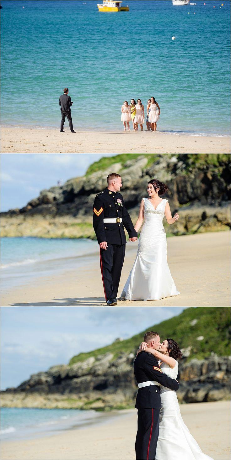 beach wedding south west uk%0A Porthminster Beach wedding photographs at a St Ives Harbour Hotel Wedding
