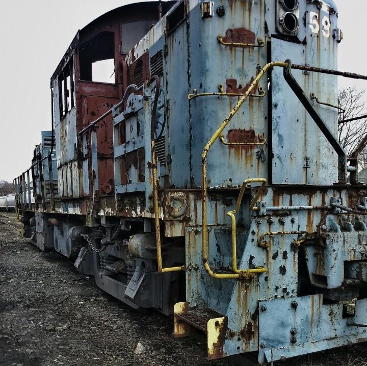 Old railroad car Salem NJ