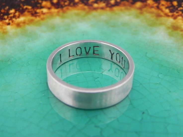 Mens Promise Ring - Personalized Inscription Text Message Boyfriend Band. $42.00, via Etsy.