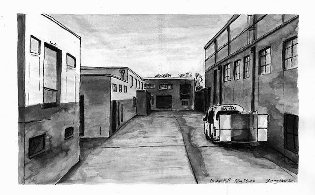 Searching For Style: Broken Hill - Film Studios Ink wash