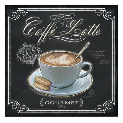 Coffee House Caffe Latte Gicléedruk van Chad Barrett bij AllPosters.nl