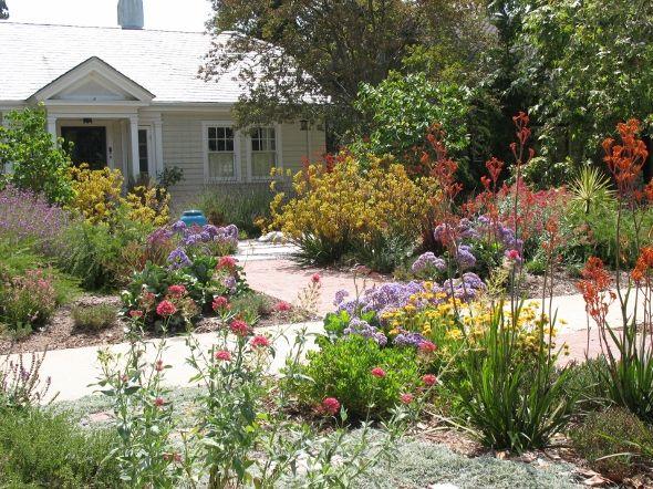 drought tolerant front garden Pasadena