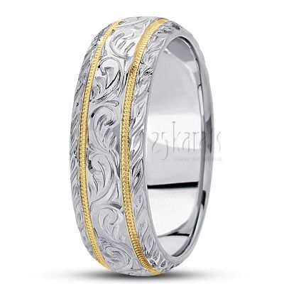 Hand Engraved Fancy Carved Wedding Band Shannon You Have To See