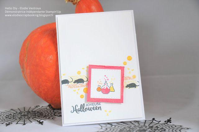 ► Hello Diy - Elodie Ventroux◄: Carte d'Halloween : Défi Stampin'Académie n°2 !