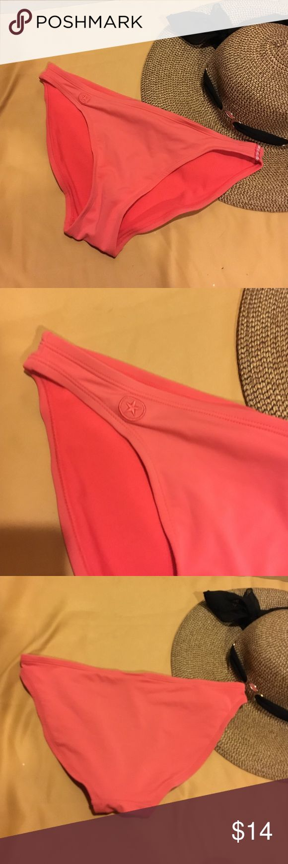 Orange bikini bottom , moderate coverage Orange bikini bottoms in great condition Converse Swim Bikinis
