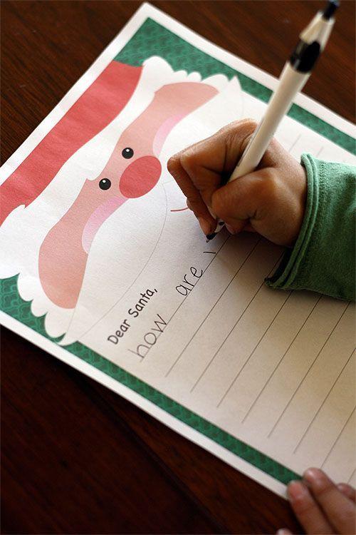 Printable Santa letter #christmas #kids #printables