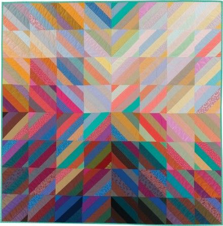 """Interweave,"""" a 1982 studio quilt by Michael James. From the Ardis and Robert James Collection.  Quilts are art, as the International Quilt Study Center and Museum proves 