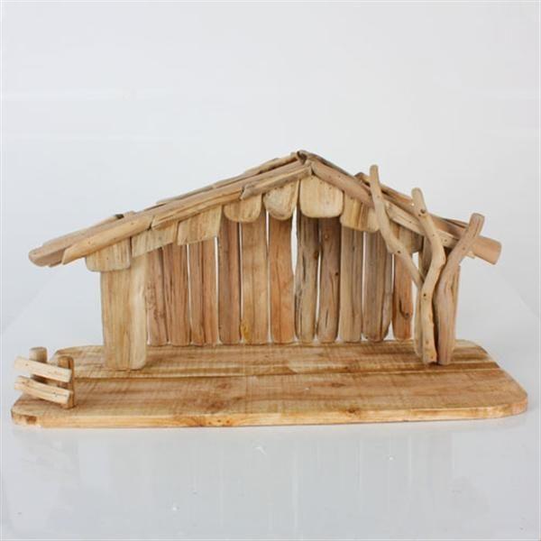 Creche en bois de greve 24 39 39 139 v ronneau noel - Faire une creche de noel en bois ...