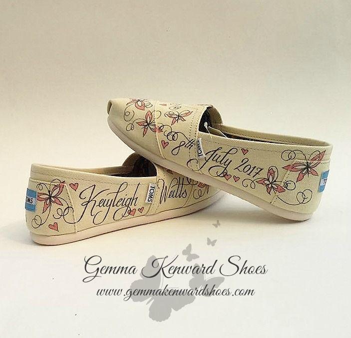 Butterflies on wedding shoes.jpg #paintedToms #custom #Toms #customised #personalisedToms #weddingToms #wedding #weddingshoes #shoes  #weddingflats #flats #Toms #weddingToms