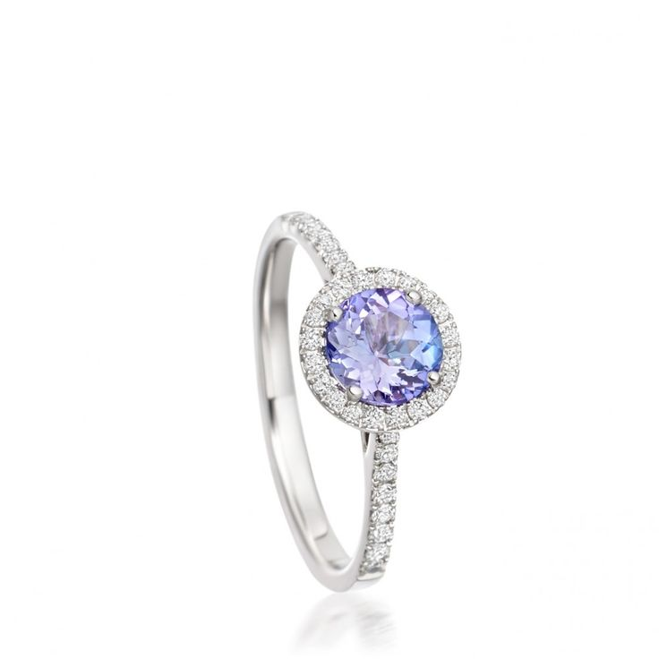 14 karat white gold tanzanite ring by Astley Clarke Tearoom                                                                                                                                                                                 More