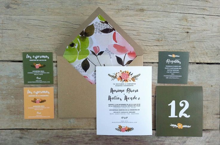 #invitaciones INTHESKY.COM.AR modelo FLOWERS #casamiento #boda #deco #ambiebtacion #numerosdemesa #menu #participaciones