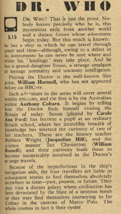 Review of the first episode of Doctor Who -  November 23, 1963. WOW!: Geeky, Episode, November 23Rd, Facts, Doctorwho, 1963, Doctors Who, Dr. Who, 50 Years