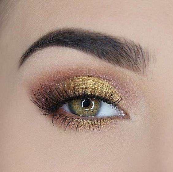Gold Eye and Longer Lashes