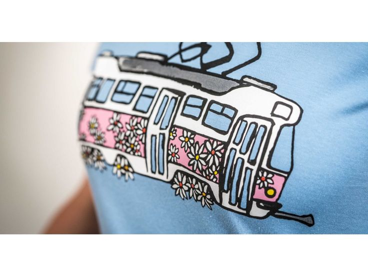 Kopretinová tétrojka . Dámské tričko s potiskem kopretinové tétrojky Gramáž: 190g/m2 Materiál: 100% bavlna Barva: bílá / světle modrá