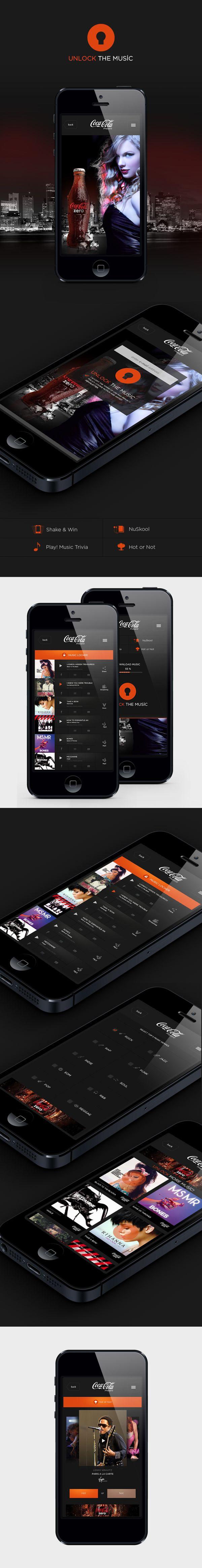 Coca Cola Music by Turkan Kalbiyeva, via Behance