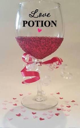 valentine wine glasses google search