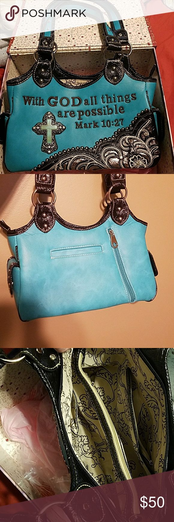 I just added this listing on Poshmark: Turquoise Purse. #shopmycloset #poshmark #fashion #shopping #style #forsale #Handbags