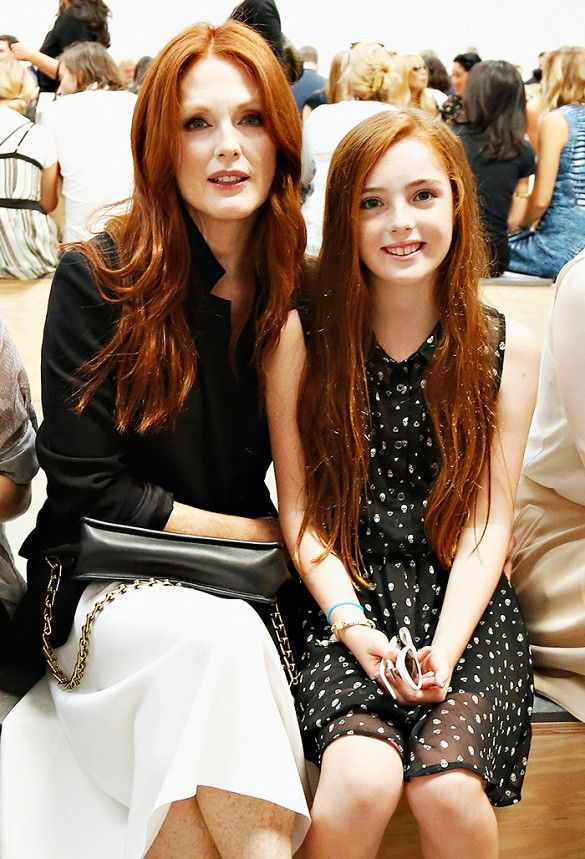 Julianne Moore's daughter Liv Freundlich has inherited her mother's gorgeous fire-hued locks