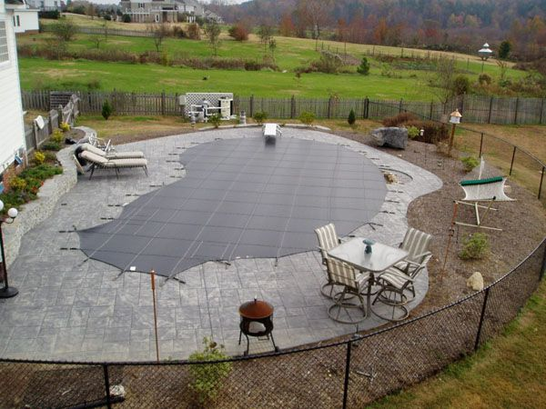 Small Inground Pools | ... step of winterizing your pool is to cover the pool with pool cover