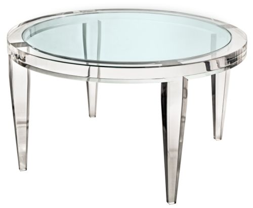 Don't you just love a good lucite coffee table