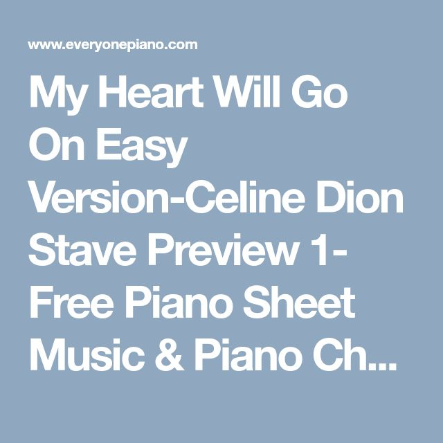 Free Piano Sheet Music For My Heart Will Go On By Celine Dion: Best 25+ Free Piano Sheets Ideas On Pinterest