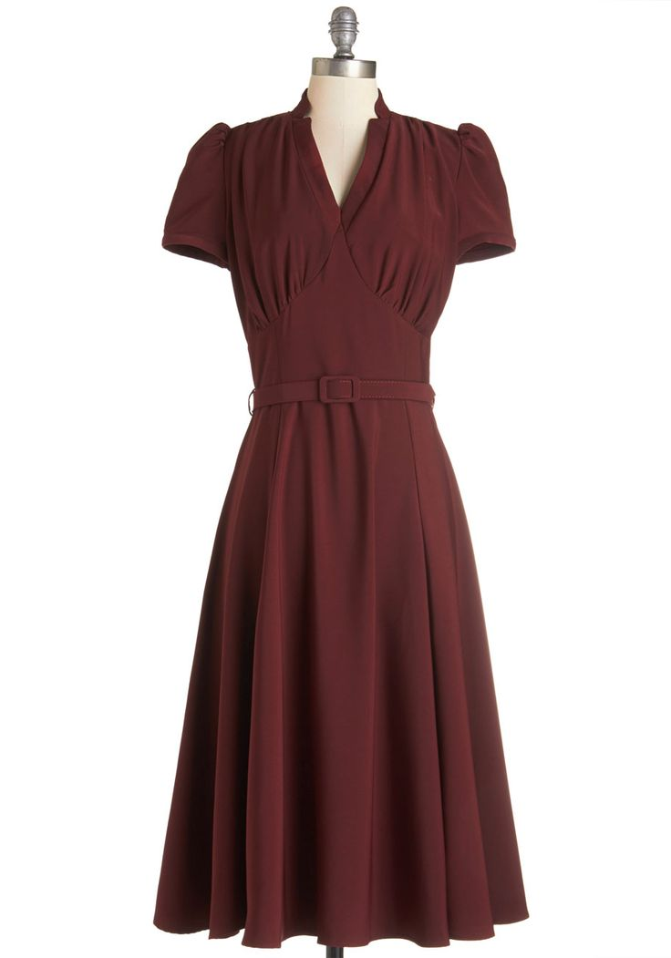 Radio Hour Dress in Wine, @ModCloth