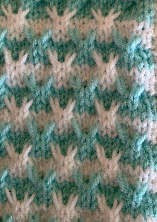 Çift Renkli uzatmalı ilmek li örgü örneği [] # # #Knitting, # #Points, # #Of #Agujas