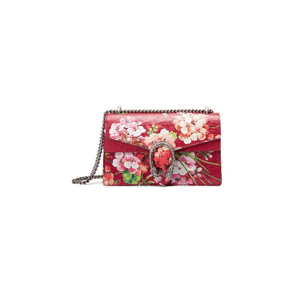 Dionysus Blooms shoulder bag (€2.310) ❤ liked on Polyvore featuring bags, handbags, shoulder bags, gucci, gucci shoulder handbags, red shoulder bag, gucci purses and gucci handbags