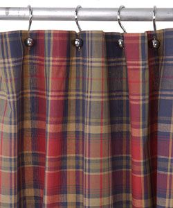Birmingham Navy Plaid Shower Curtain | Overstock.com Shopping - The Best Prices on Bathroom Accessory Sets