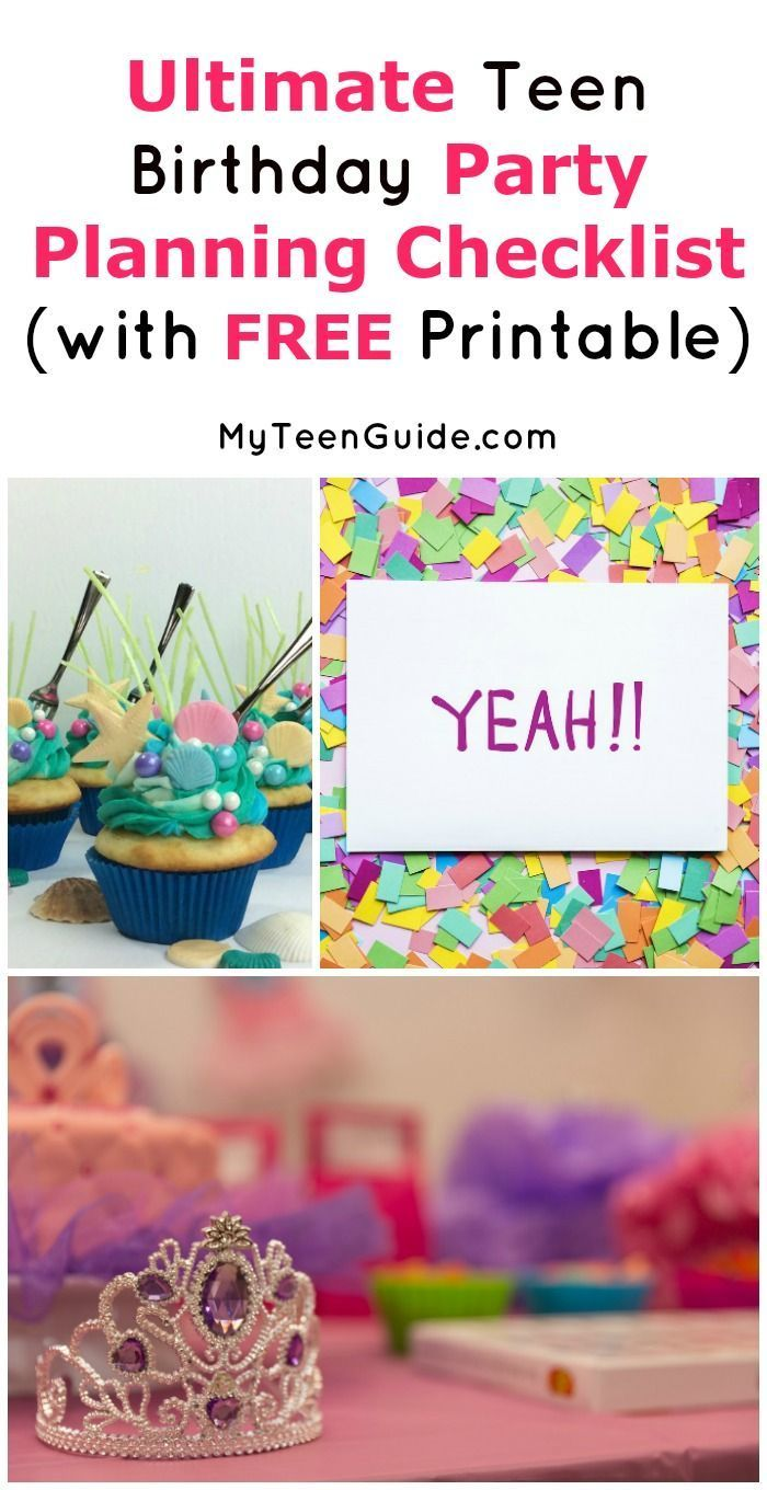 ultimate teen birthday party planning checklist (free pdf printable