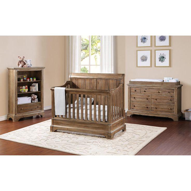 Elegant Bertini Pembrooke Convertible Crib   Natural Rustic   Bertini   Babies