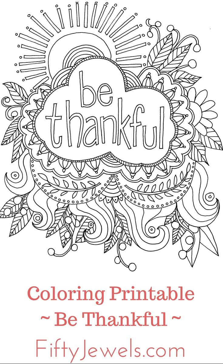 Free coloring pages on forgiveness - Be Thankful Colouring Page