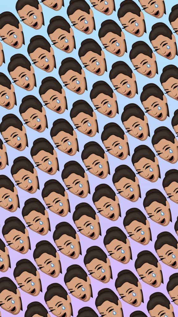 Kimoji limited edition ugly crying face wallpaper for $12.99 on eBay