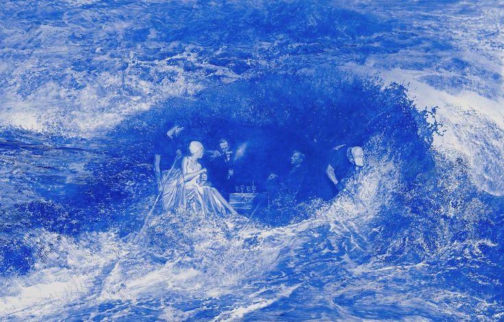 Monochromatic Blue Paintings by Mark Tansey – Fubiz Media