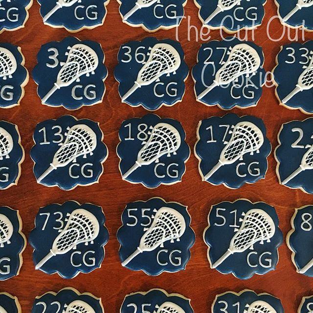 Lacrosse cookies! #thecutoutcookie #cookiesofinstagram #decoratedcookies #royalicing #sugarcookies #lacrossecookies