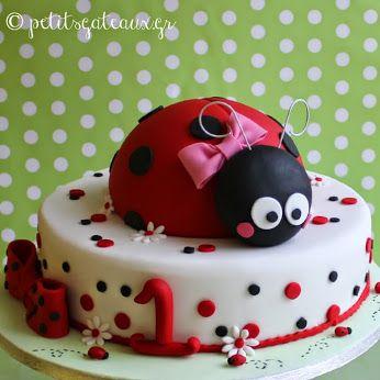 Τούρτα γενεθλίων με θέμα την πασχαλίτσα! Ladybug themed birthday cake!
