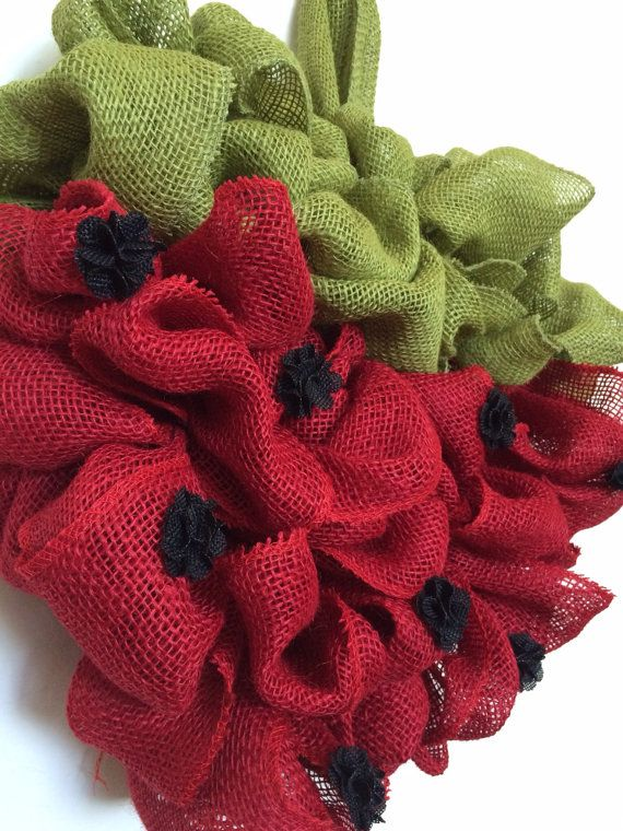 Strawberry Wreath by WovenHeartWreaths on Etsy