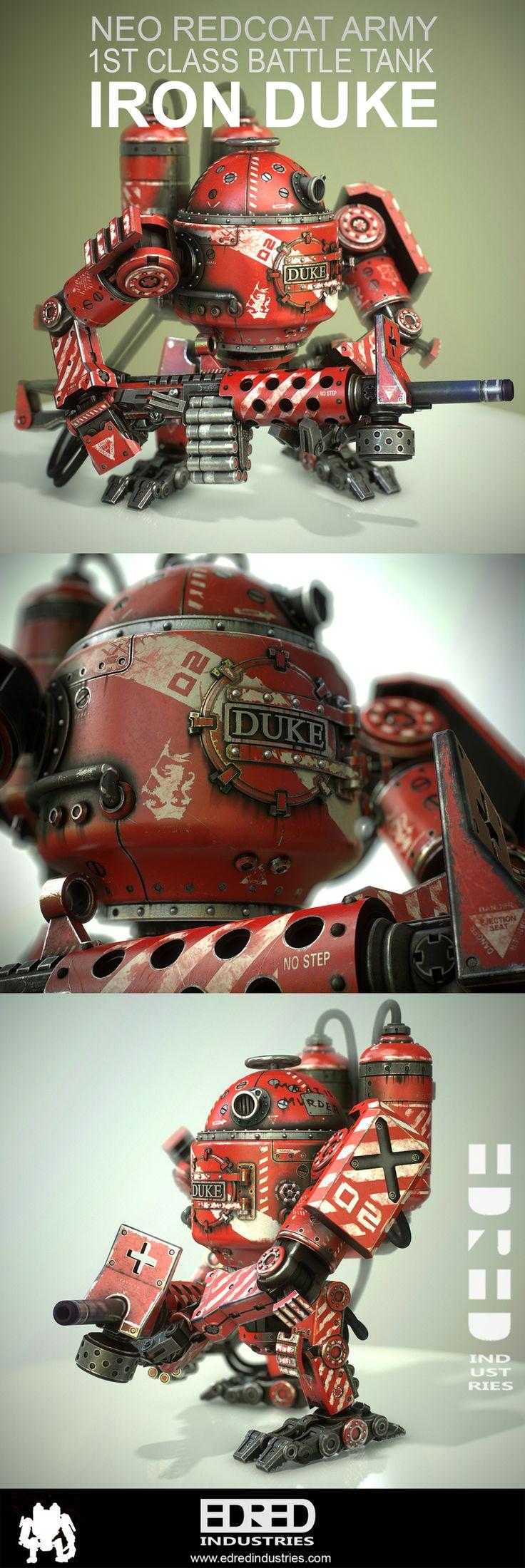Edred Industries: IRON DUKE Steampunk Robot                                                                                                                                                                                 More
