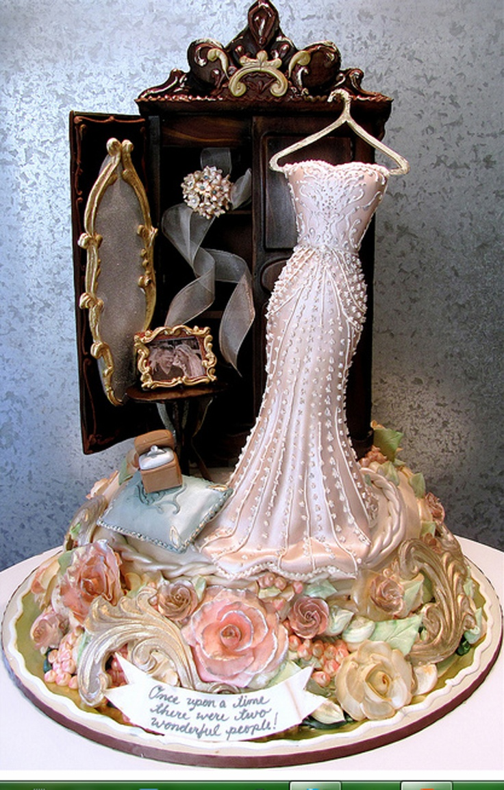 Rosebud Dress Cakes - Wait...that's a cake?  Whoa!