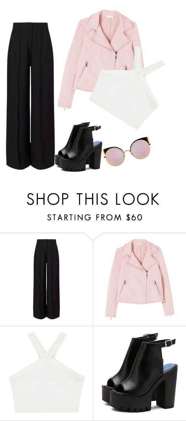 """Untitled #1"" by dominyka-januzyte ❤ liked on Polyvore featuring Miss Selfridge, BCBGMAXAZRIA and Fendi"