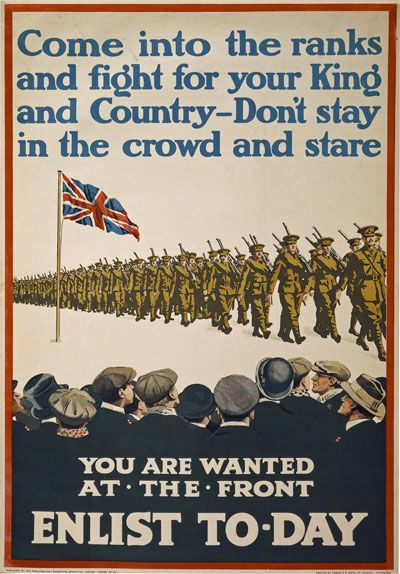 WWI For King & Country British Recruitment Poster