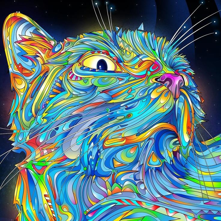 kleurverloop kattig kleurverloop