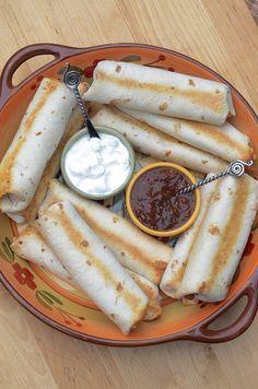 Cheesy Baked Bean and Rice Burritos ~ http://www.fromvalerieskitchen.com