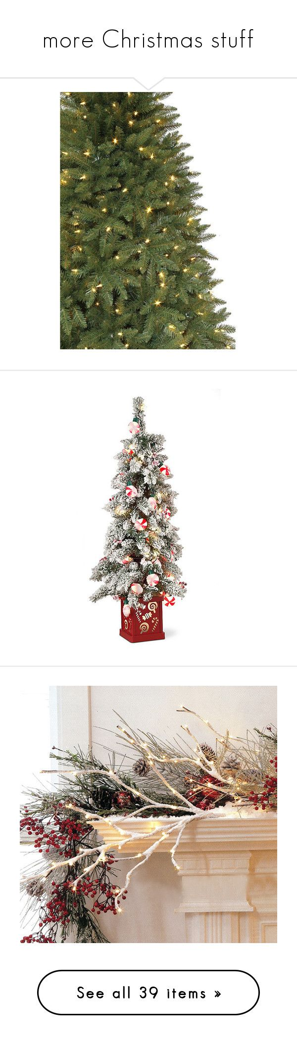 Crestwood small artificial christmas tree with plastic bronze pot -  More Christmas Stuff By Loves Elephants Liked On Polyvore Featuring Home Small Christmas Treesartificial