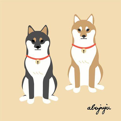 柴柴兄弟 ( 柴犬 ) Shibainu by abujuju