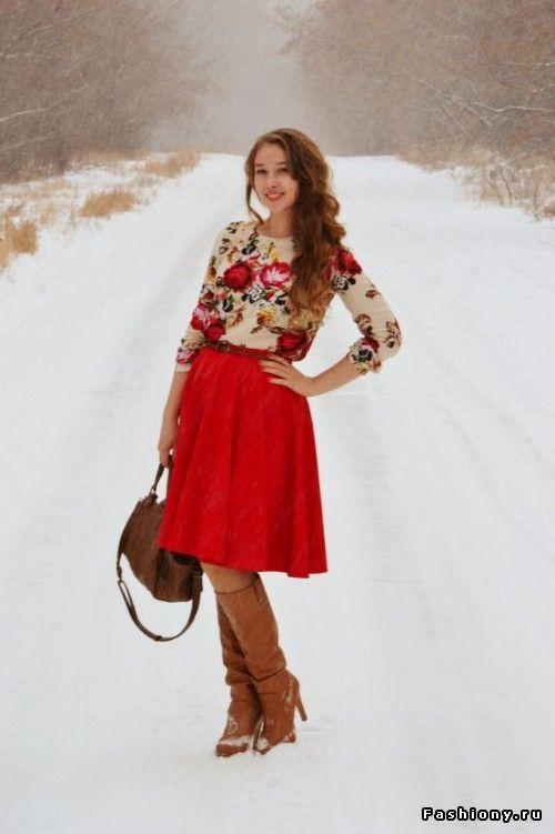 Зимние картинки / красивые зимние картинки с девушкой