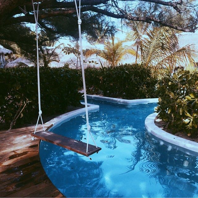 pool. The swing is so neat!!