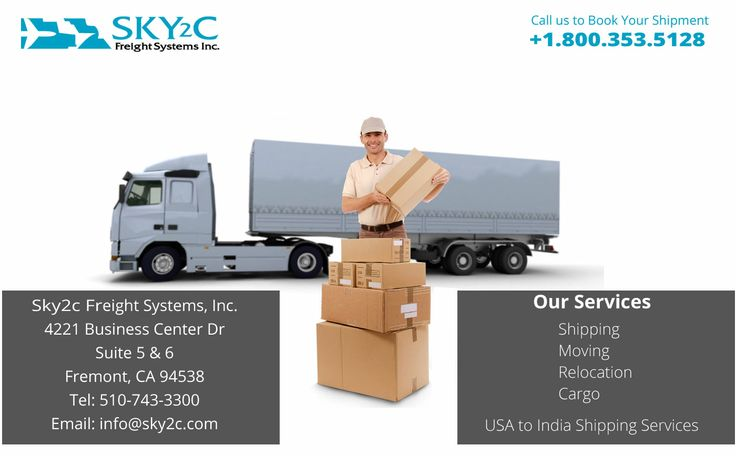 Sky2c Freight Systems is a reputed shipping company located in California USA, offering cheap international freight shipping, overseas cargo and  relocation service to India. call us at +1.800.353.5128 and avail our service benefit on affordable price.